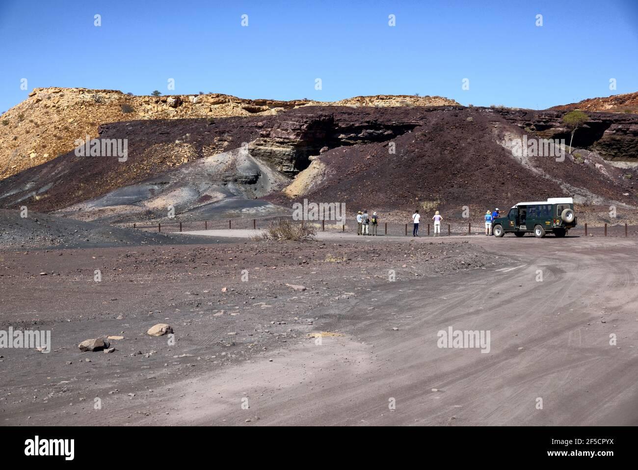 Géographie / Voyage, Namibie, Burnt Mount, près de Twyfelfontein, région Kunene, Informations-droits-autorisations-supplémentaires-non-disponibles Banque D'Images