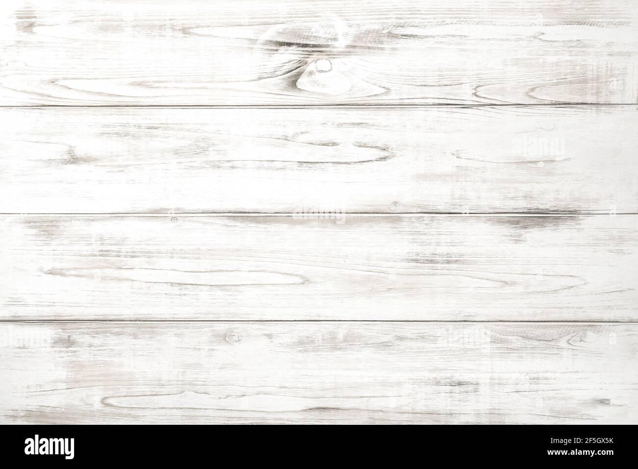 Arrière-plan en bois avec planches blanches. Motif en bois naturel Banque D'Images