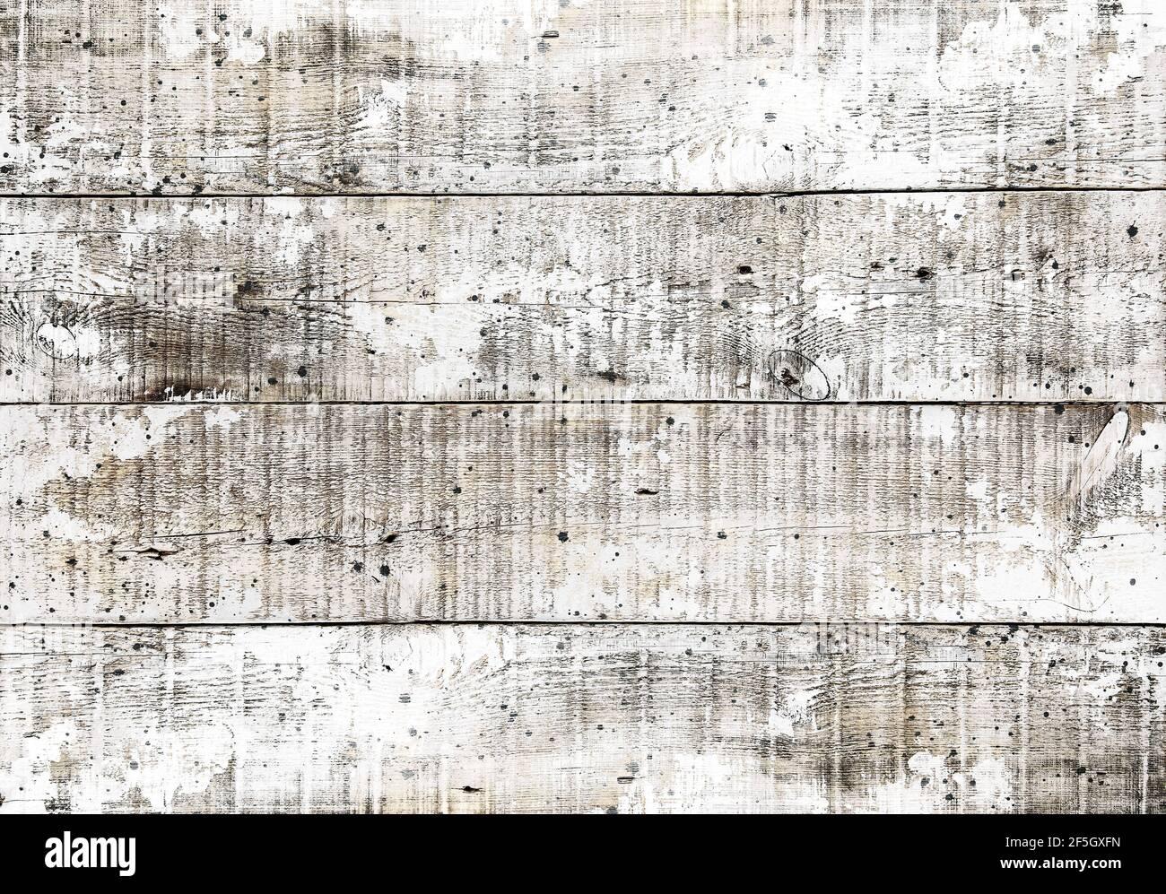 Texture en bois vieilli. Arrière-plan rustique en bois blanc Banque D'Images