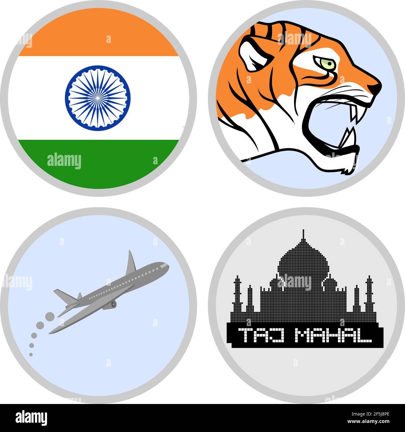 Agence de tourisme indien Illustration de Vecteur