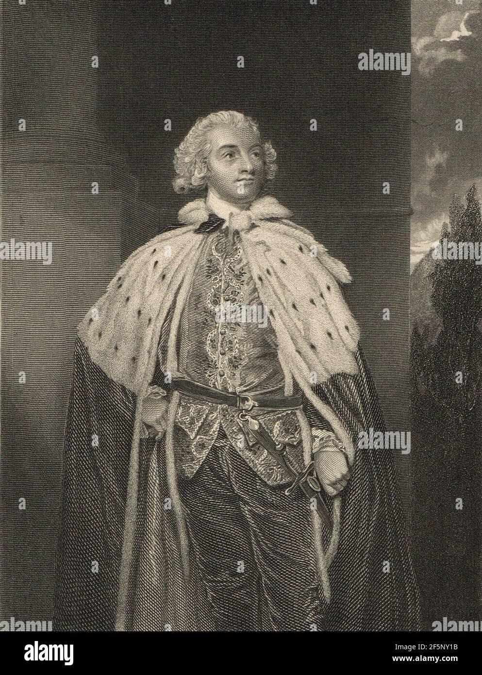 John Fane, 10e comte de Westmorland, nommé lieutenant d'Irlande par Pitt en 1790 Banque D'Images