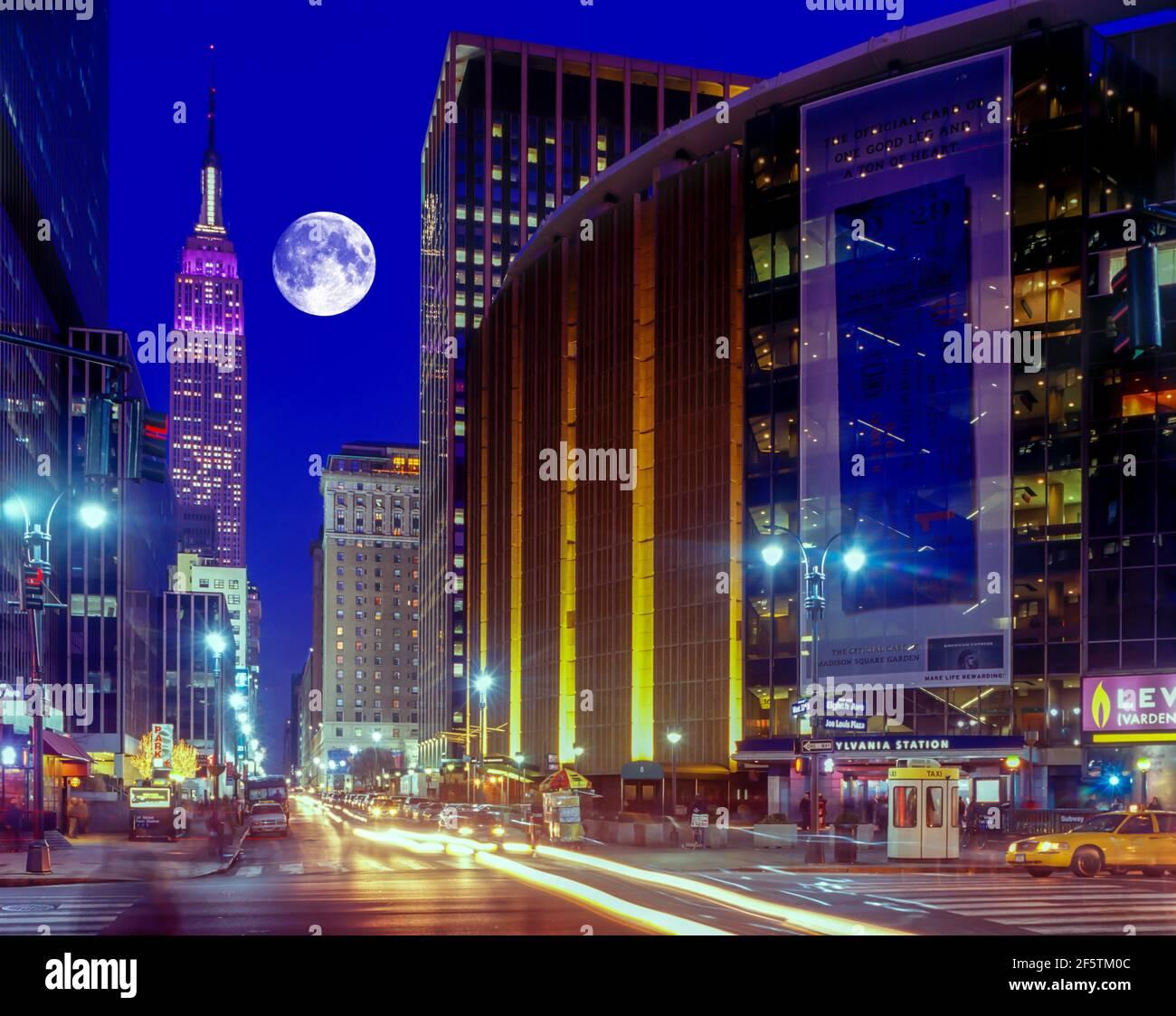 2004 MADISON SQUARE GARDEN HISTORIQUE (©CHARLES LUCKMAN 1968) HUITIÈME AVENUE MANHATTAN NEW YORK CITY ÉTATS-UNIS Banque D'Images