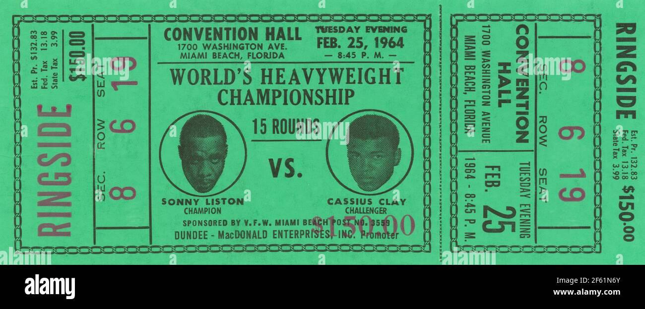 Championnat du monde de poids lourd, Liston contre Clay, 1963 Banque D'Images