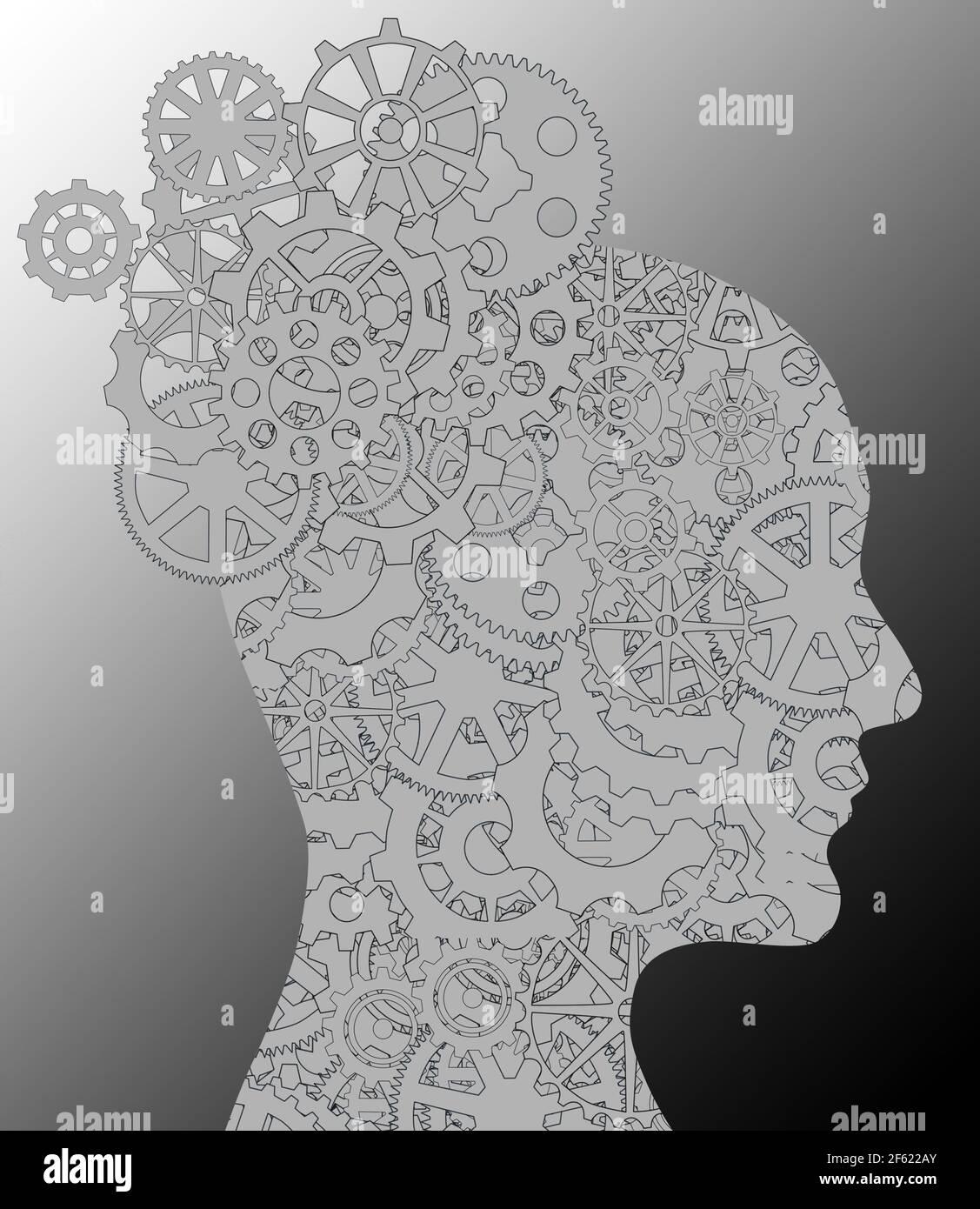 Activité cérébrale chez la femme Banque D'Images