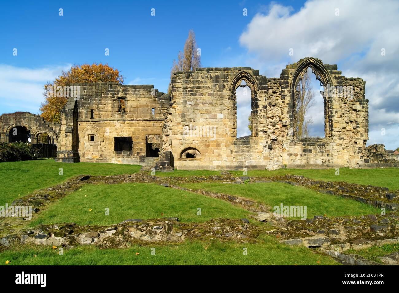 Royaume-Uni, Yorkshire du Sud, Barnsley, Monk Bretton Priory Banque D'Images