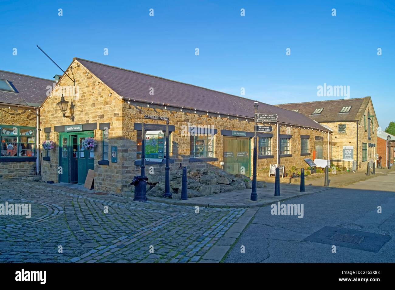 Royaume-Uni, Yorkshire du Sud, Elsecar Heritage Centre, Powerhouse Square Banque D'Images