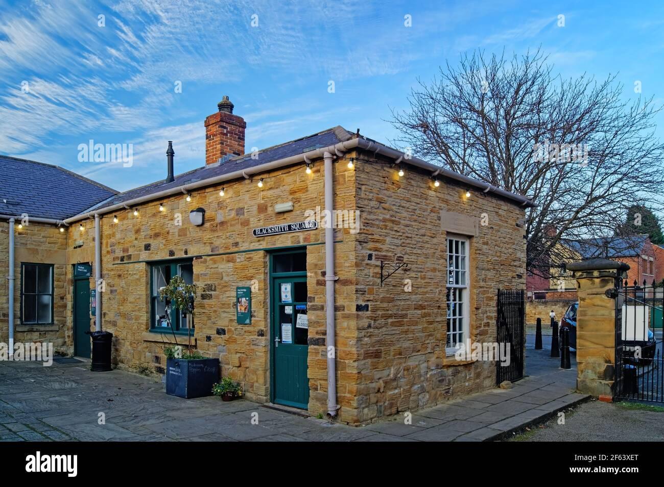 Royaume-Uni, Yorkshire du Sud, Elsecar Heritage Centre, Blacksmith Square Banque D'Images