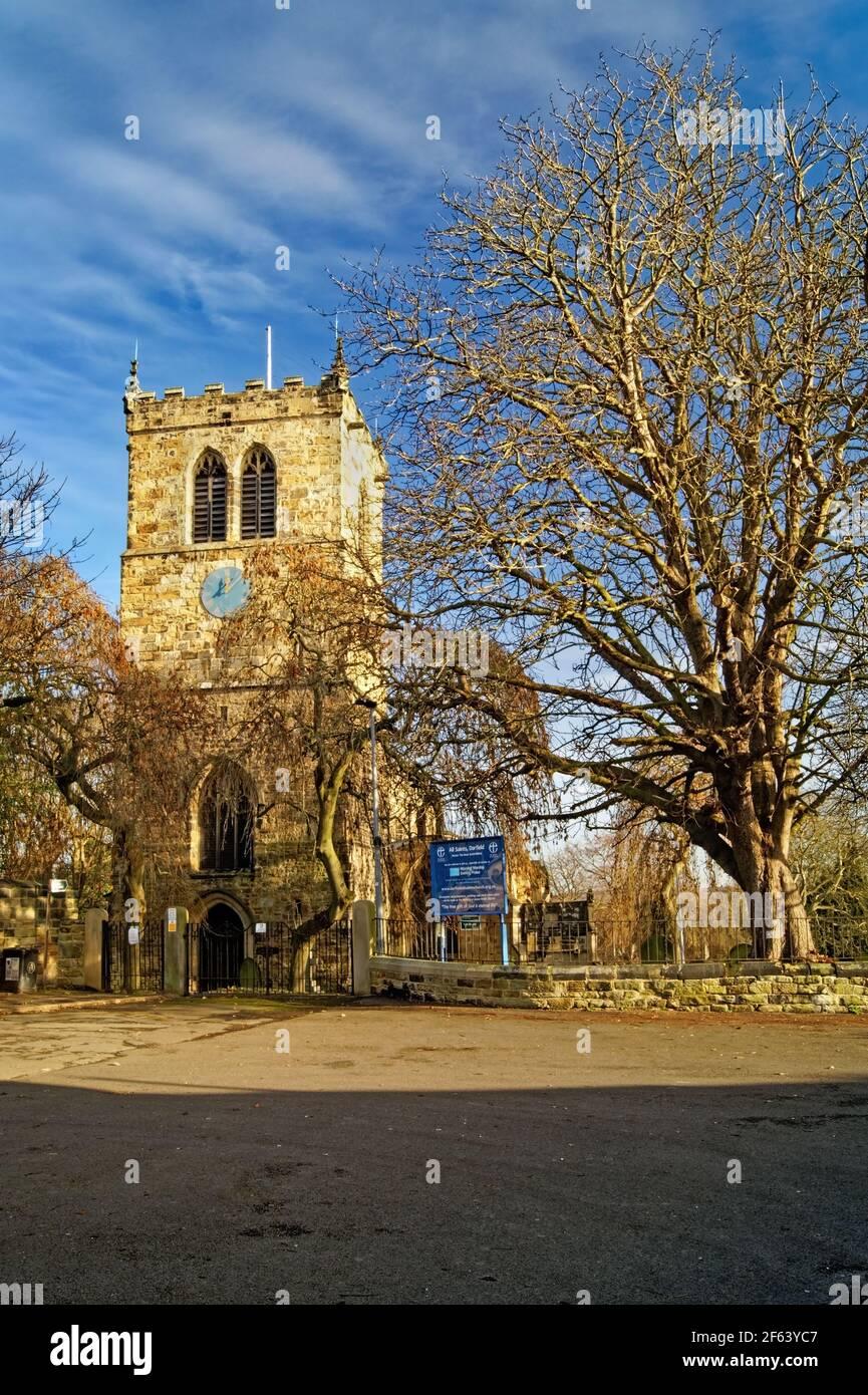 Royaume-Uni, Yorkshire du Sud, Barnsley, Darfield, Église des Saints Banque D'Images