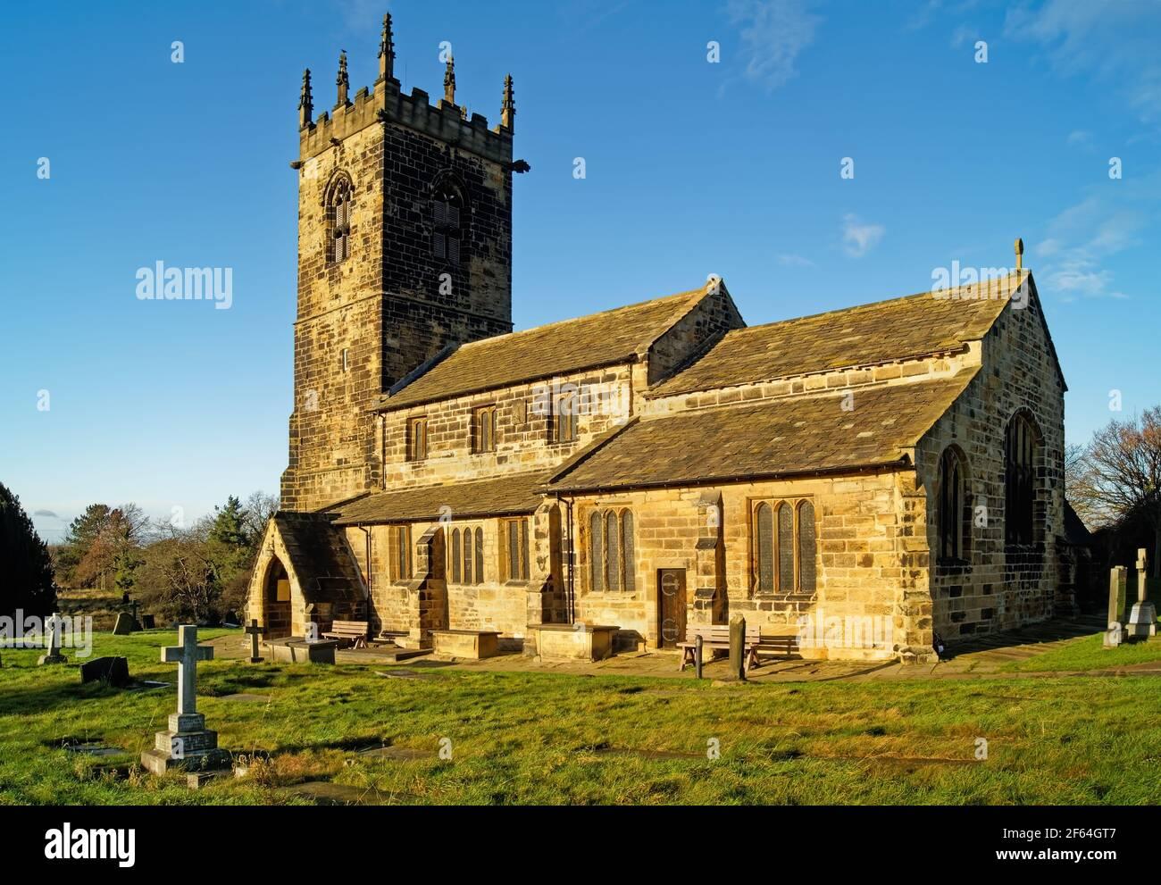 Royaume-Uni, West Yorkshire, Wakefield, Felkirk, Église Saint-Pierre Banque D'Images