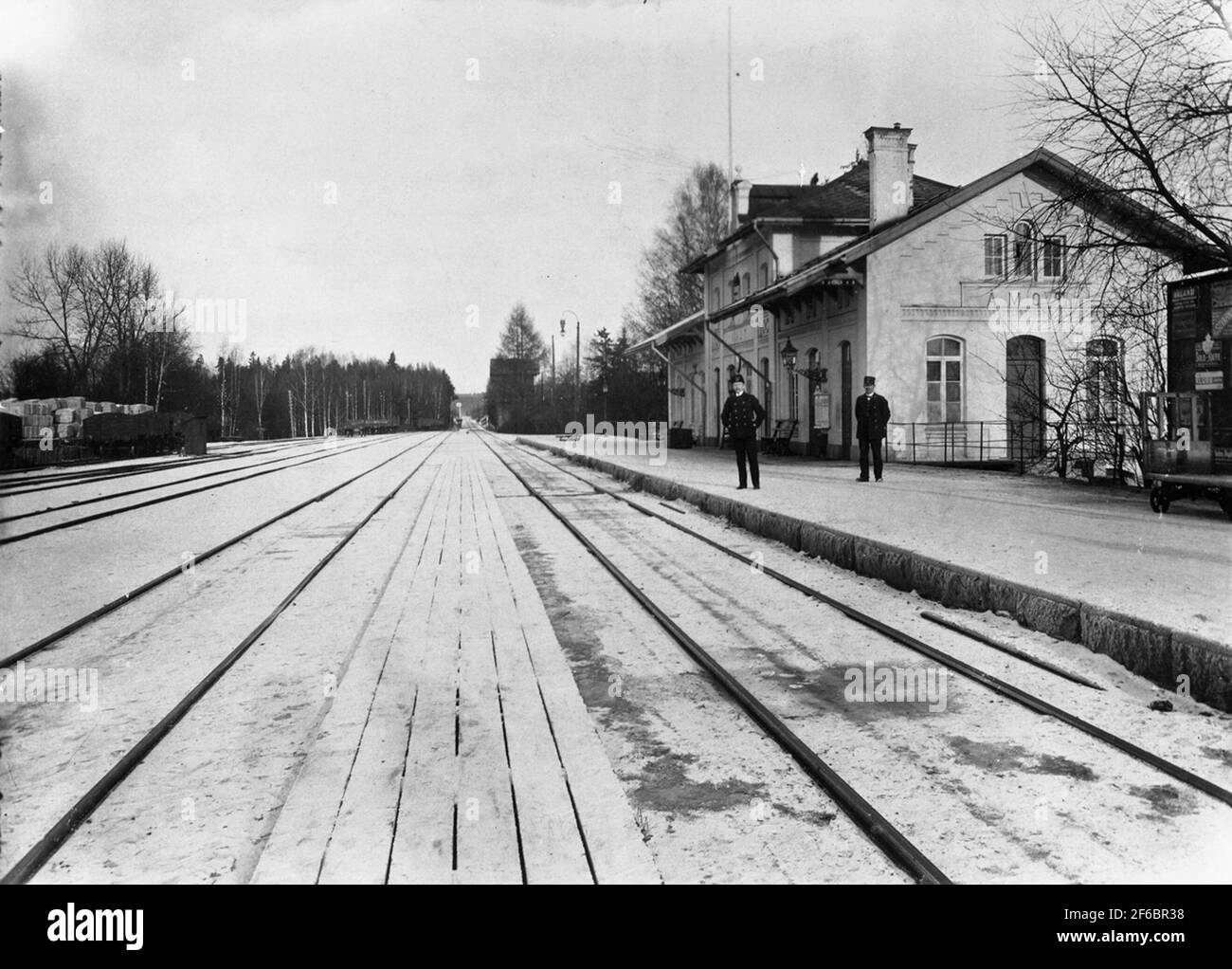 Gare d'Åmot, puis ÅMotors. Banque D'Images