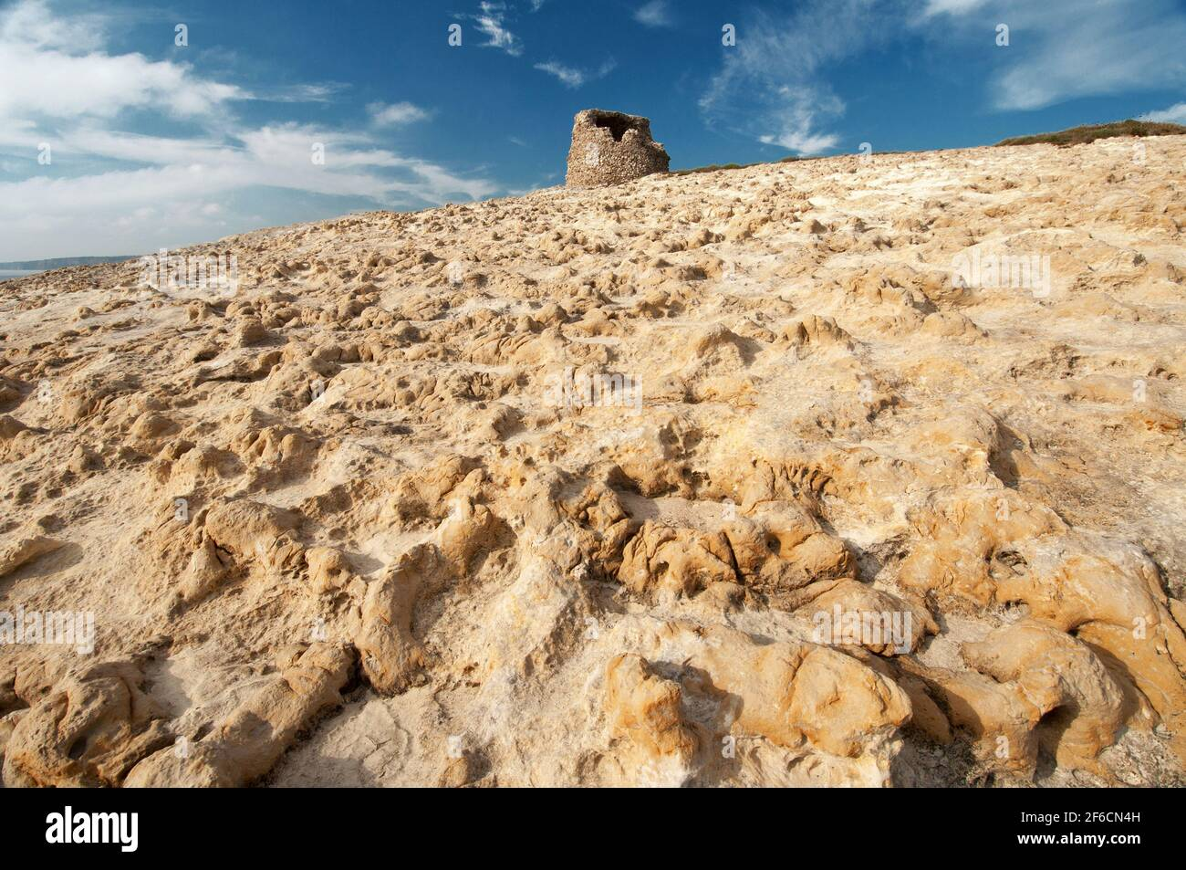 Tour Torre del Pozzo, Cuglieri, Oristano, Sardaigne, Italie, Europe Banque D'Images
