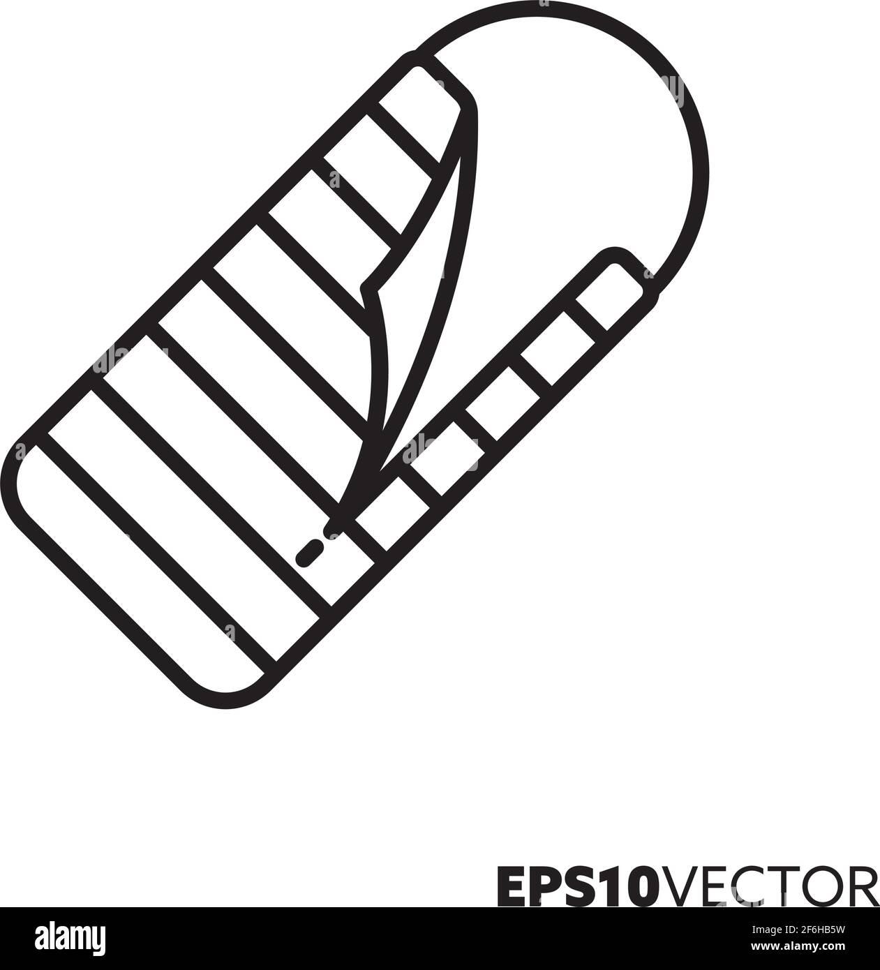 Icône de la ligne de sacs de couchage. Symbole de la randonnée et du voyage. Illustration vectorielle de l'équipement de camping. Illustration de Vecteur