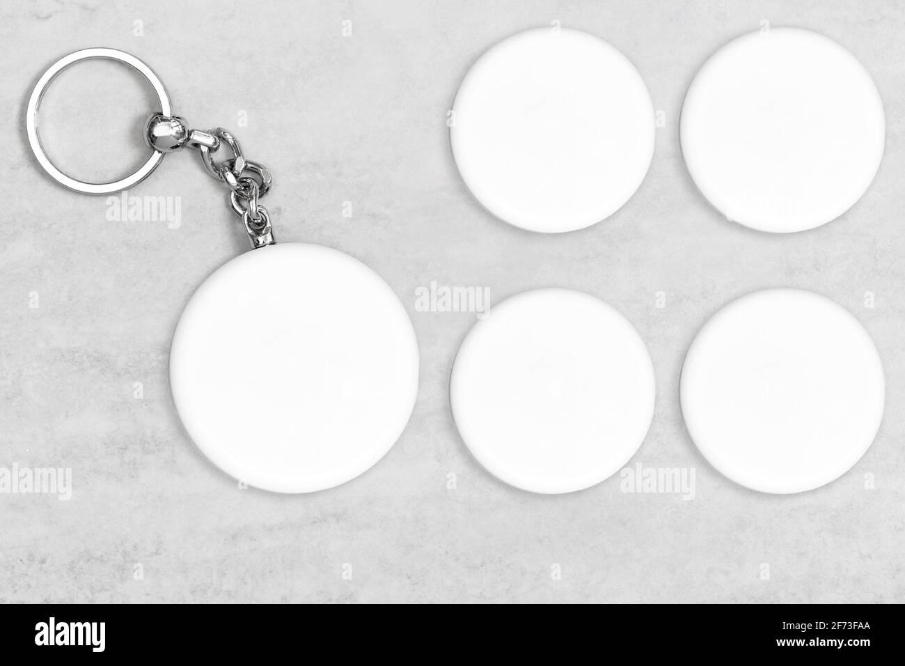 Modèle porte-clés pour afficher votre style. Maquette de porte-clés Banque D'Images