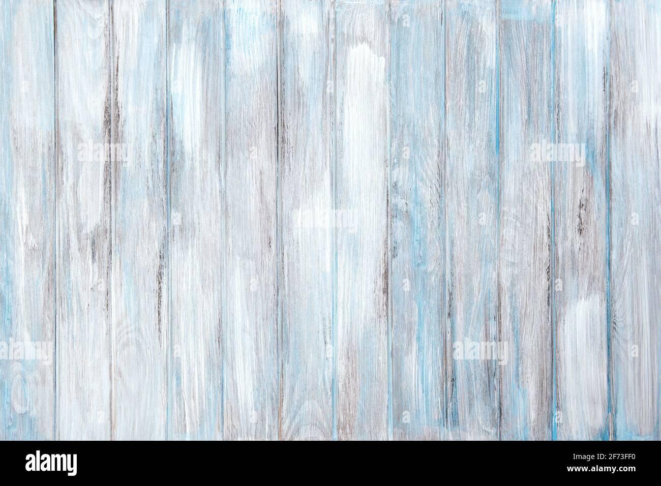 Fond en bois bleu blanc. Texture de bois rustique naturel Banque D'Images
