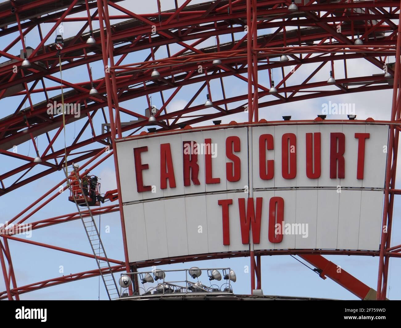 Démolition de Earl's court DEUX centres d'exposition à Londres, Royaume-Uni Banque D'Images