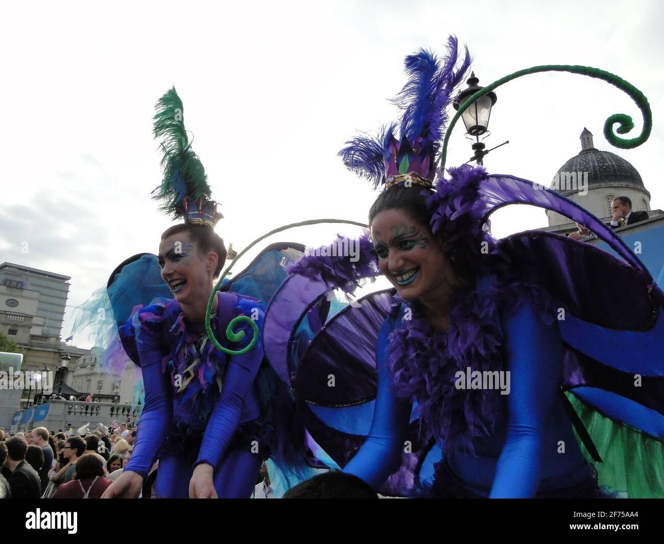 Une goutte d'eau à emporter ! - concert sur la place Trafalgar 1 an avant les Jeux Olympiques 2012, Londres, Royaume-Uni Banque D'Images
