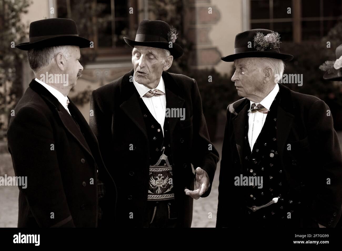 3 Trachtlern Banque D'Images