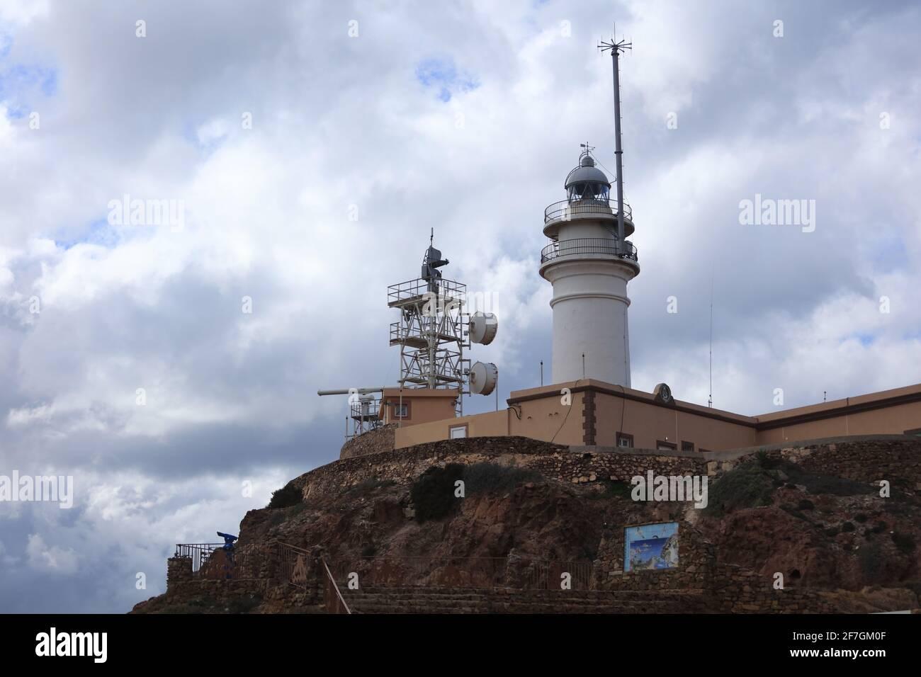 La péninsule de Cabo de Gata - la région la plus sèche d'Europe. Banque D'Images
