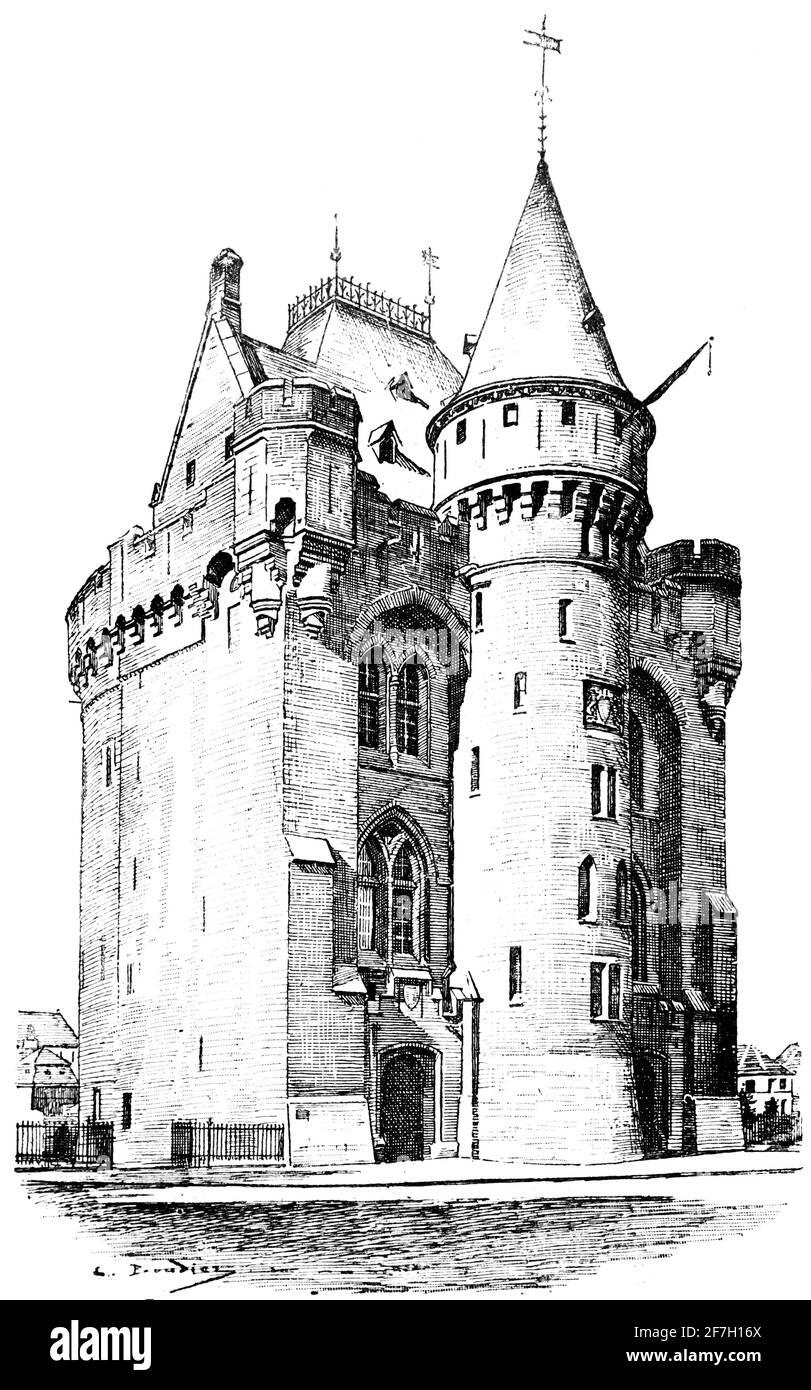 Hallepoort ou porte de ville porte de Hal à Saint-Gilles ou Sint-Gillis dans la grande région de Bruxelles, Belgique, Europe Banque D'Images