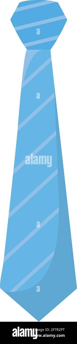 icône de cravate bleue Illustration de Vecteur
