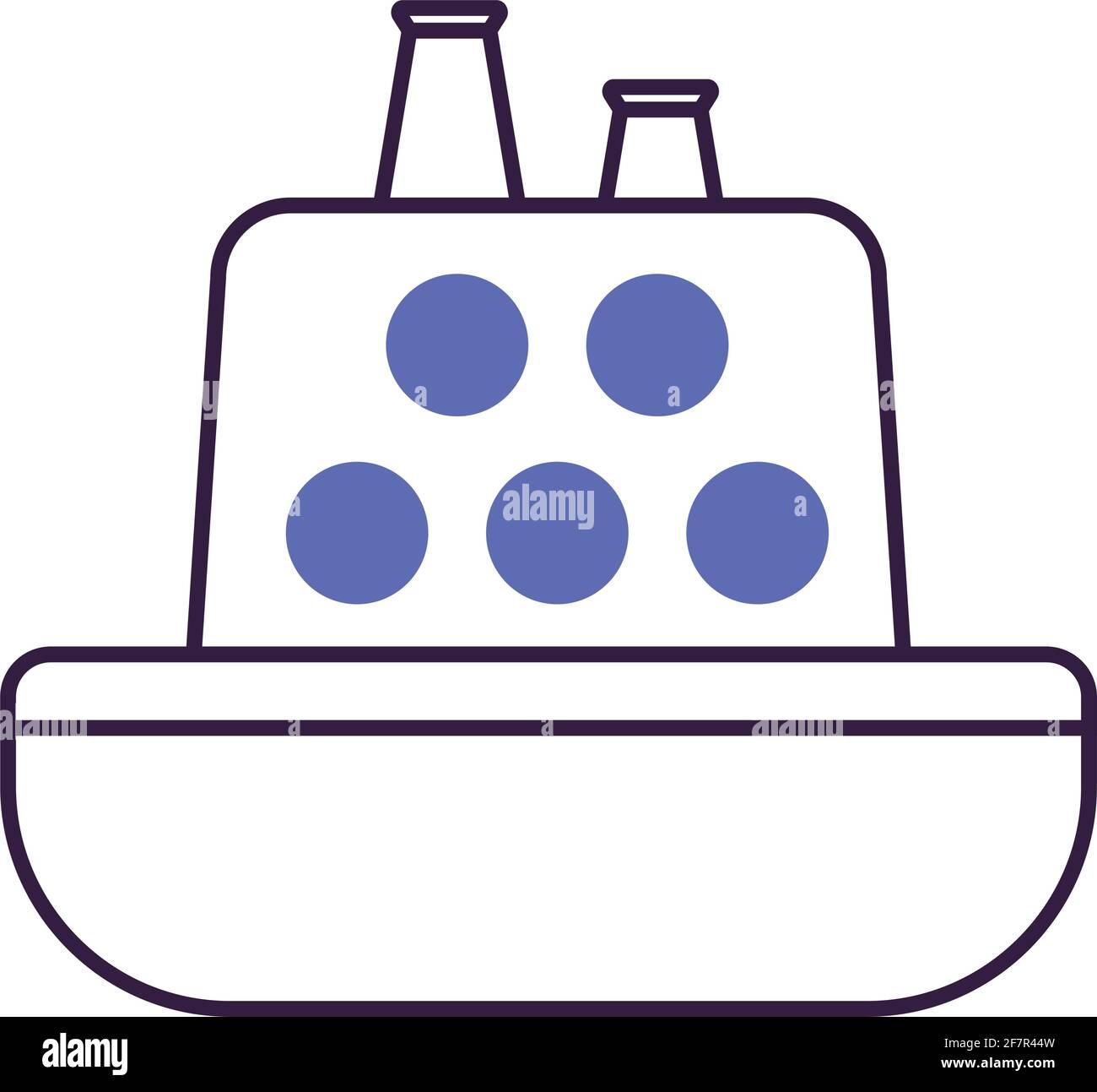 icône de bateau violet Illustration de Vecteur