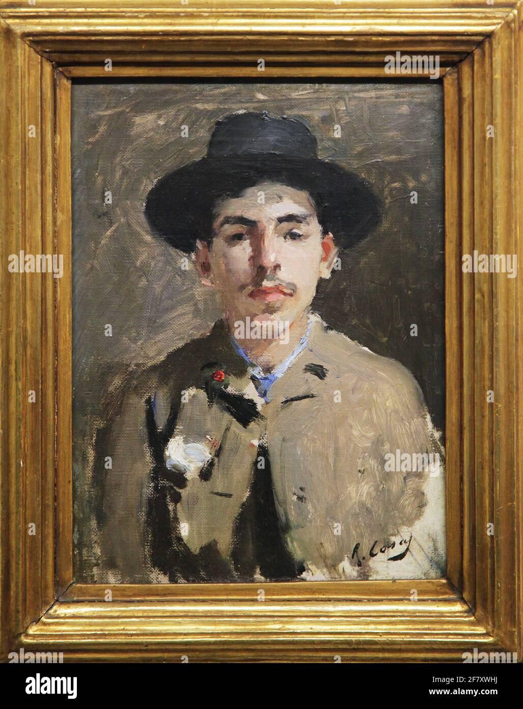Autoportrait par Ramon Casas i Carbó ou Ramon Casas 1866-1932 Banque D'Images