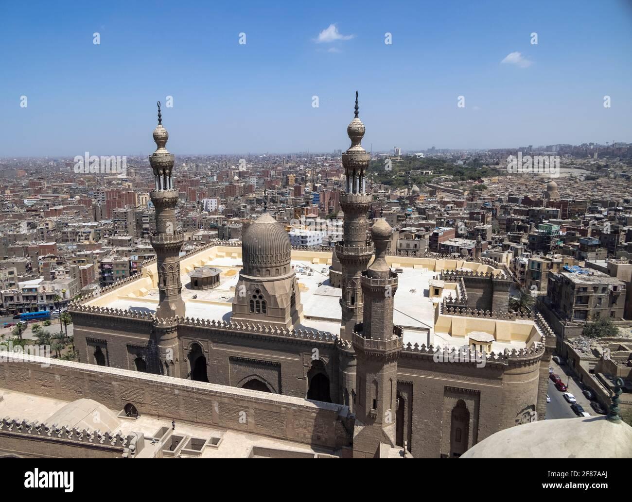 Mosquée d'al-Rifa'i, Le Caire, Egypte Banque D'Images