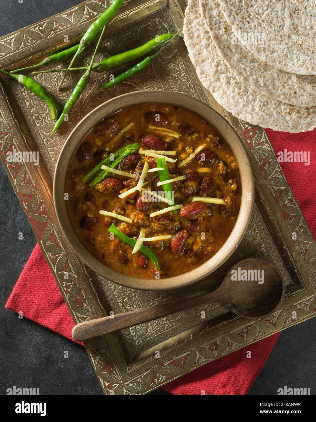 Rajma masala. Curry de haricots rouges. Inde alimentaire Banque D'Images