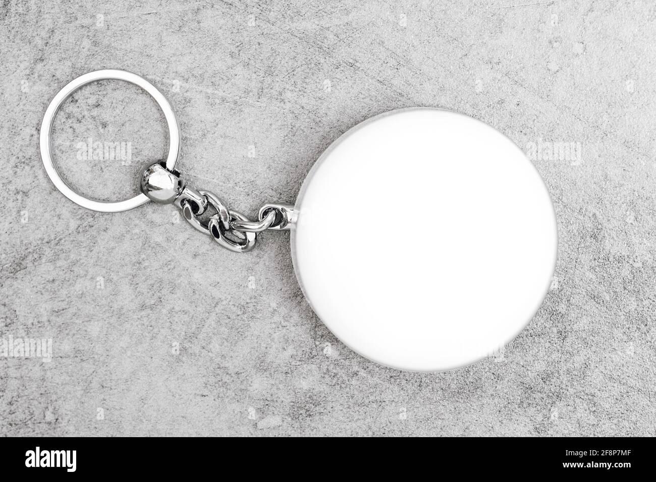 Porte-clés pour un design d'affichage. Maquette de porte-clés Smart Object Banque D'Images