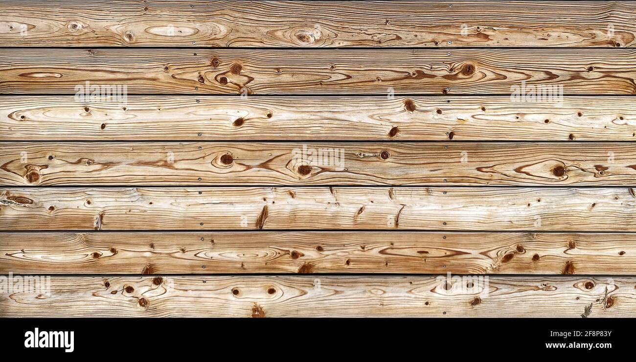 Arrière-plan en bois avec planches brunes. Motif en bois naturel Banque D'Images