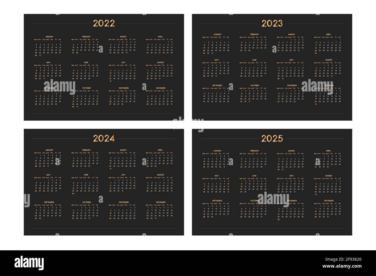 Calendrier 2022 2023 Garde Classique Calendrier Trimestriel Banque d'images détourées   Alamy