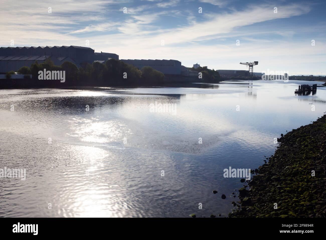 La rivière Clyde Banque D'Images