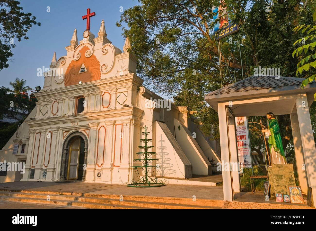 Luz Church Chennai Tamil Nadu Inde Banque D'Images