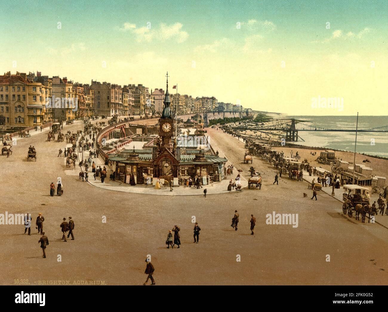 Aquarium de Brighton dans le Sussex vers 1890-1900 Banque D'Images