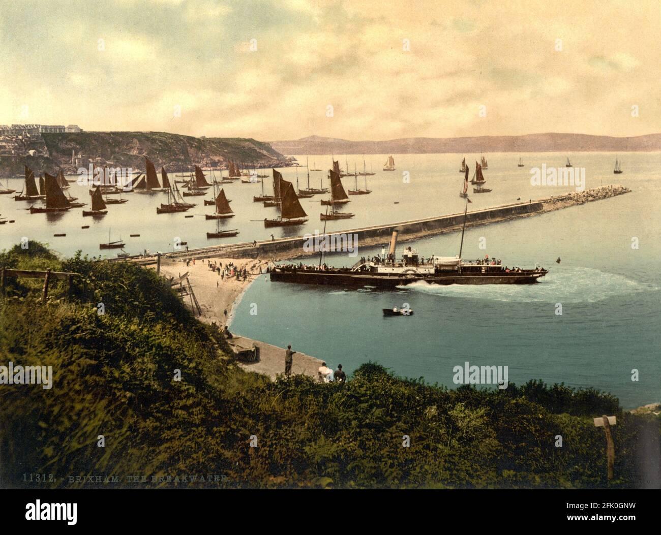 Brixham dans Devon vers 1890-1900 Banque D'Images