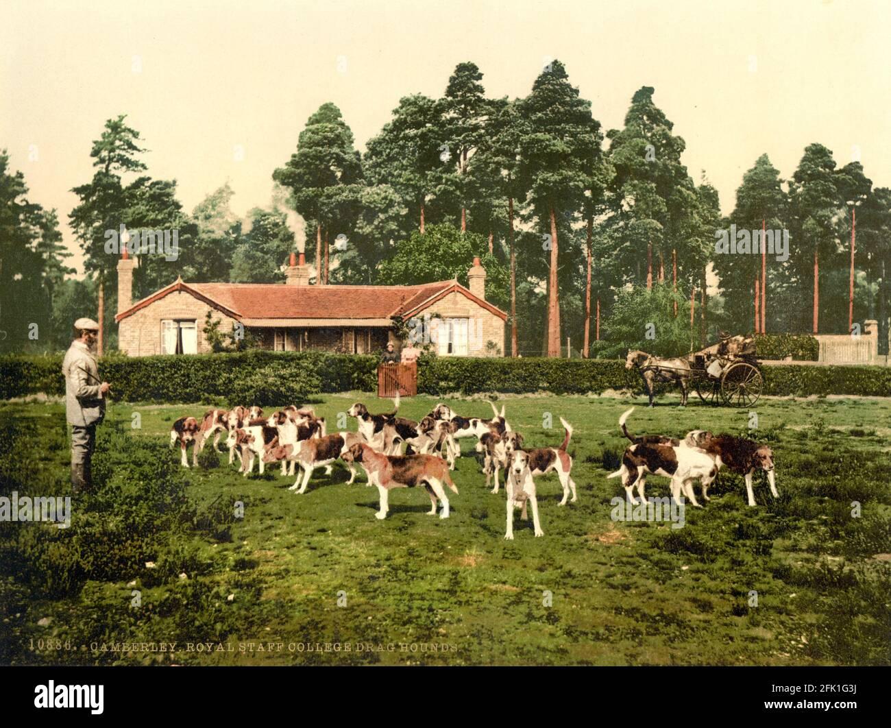Le Royal Staff College se trouve à Camberley, Surrey, vers 1890-1900 Banque D'Images