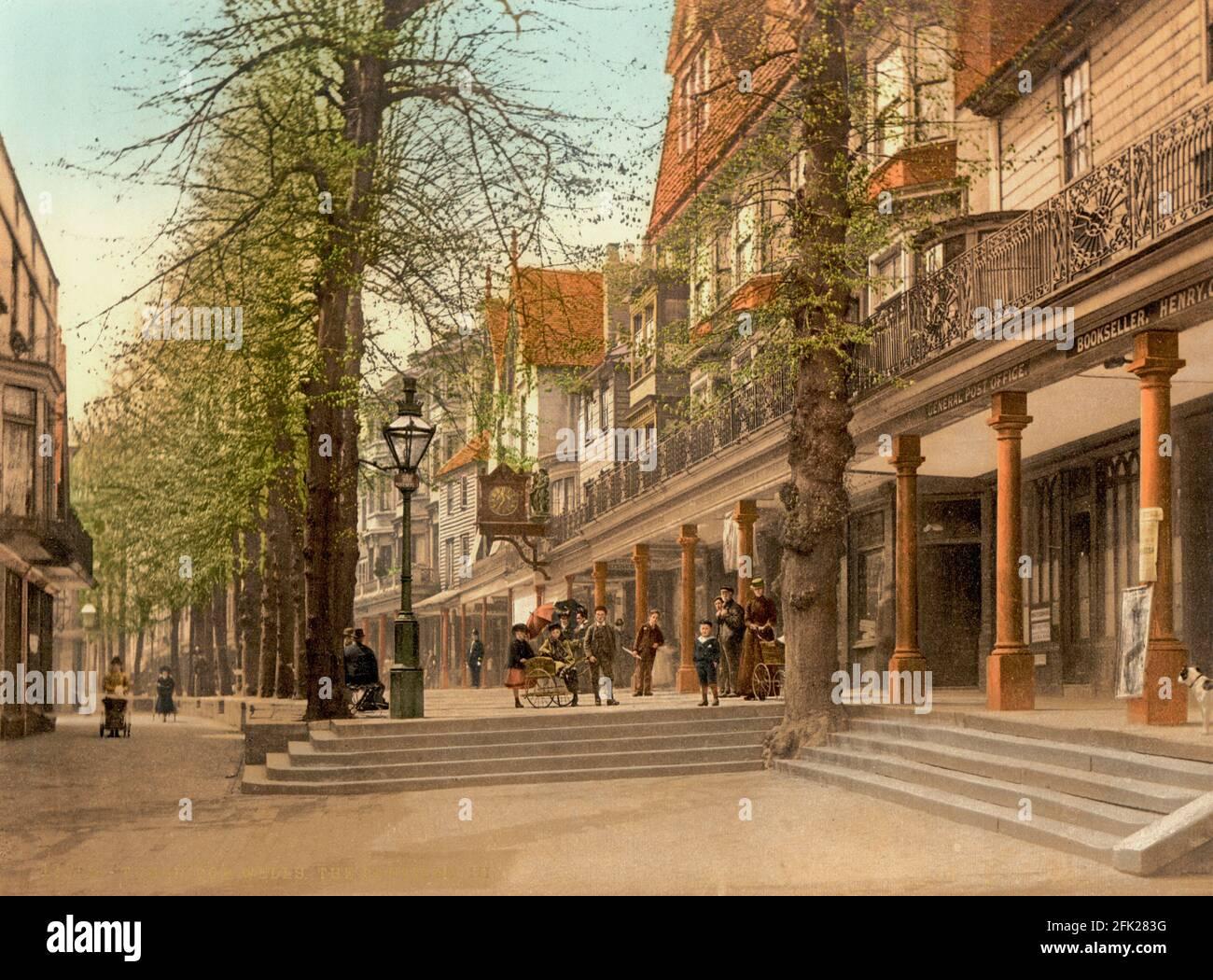 Les Pantiles à Royal Tunbridge Wells, Kent vers 1890-1900 Banque D'Images
