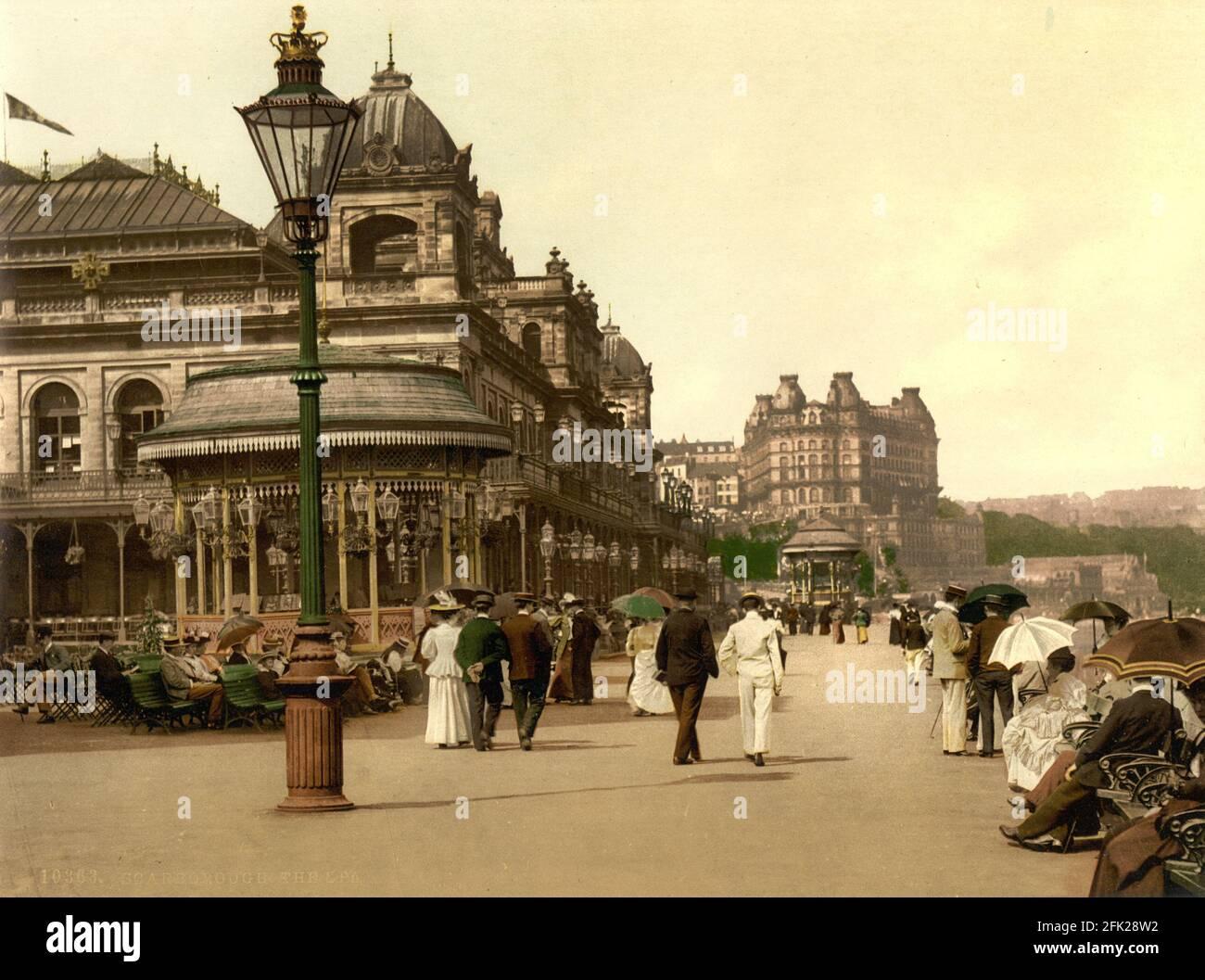 Scarborough Spa dans le Yorkshire vers 1890-1900 Banque D'Images