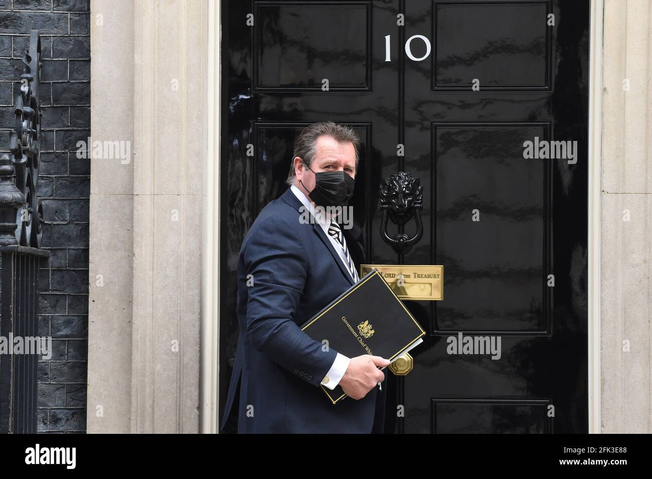 ROYAUME-UNI. 28 avril 2021. Downing Street Londres 28 avril 2021. Mark Spencer le whip en chef arrive au N10. Crédit : MARTIN DALTON/Alay Live News Banque D'Images