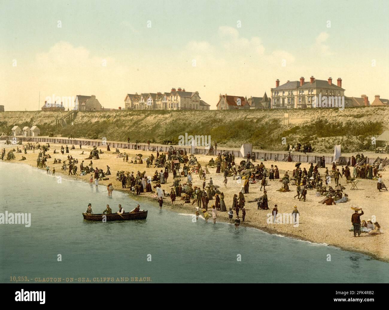 Clacton-on-Sea dans l'Essex vers 1890-1900 Banque D'Images