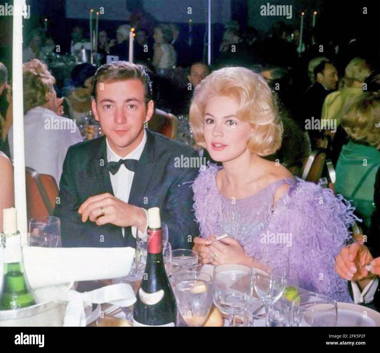 SANDRA DEE actrice américaine de film avec Bobby Darin vers 1961 Banque D'Images