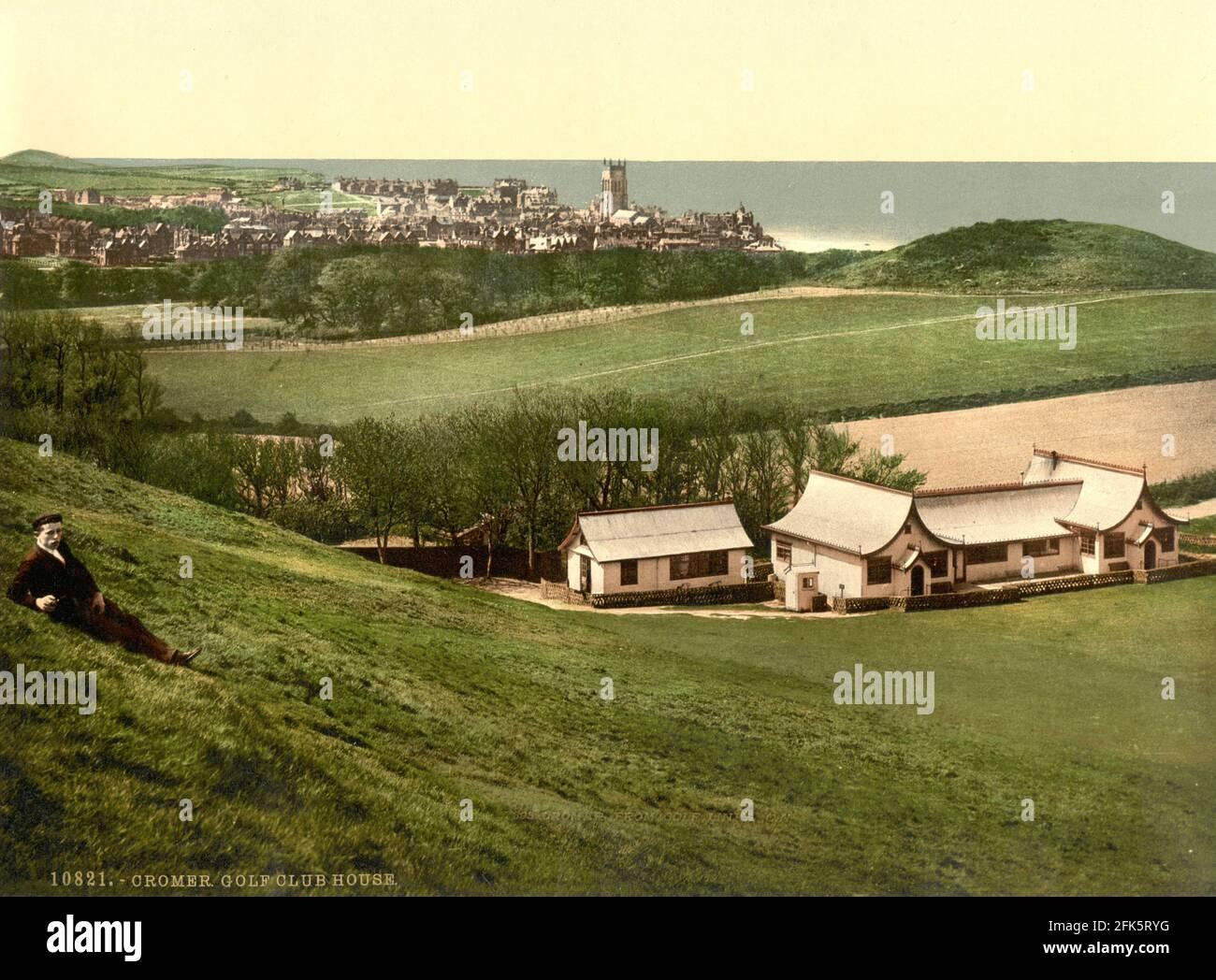 Le terrain de golf de Cromer à Norfolk vers 1890-1900 Banque D'Images
