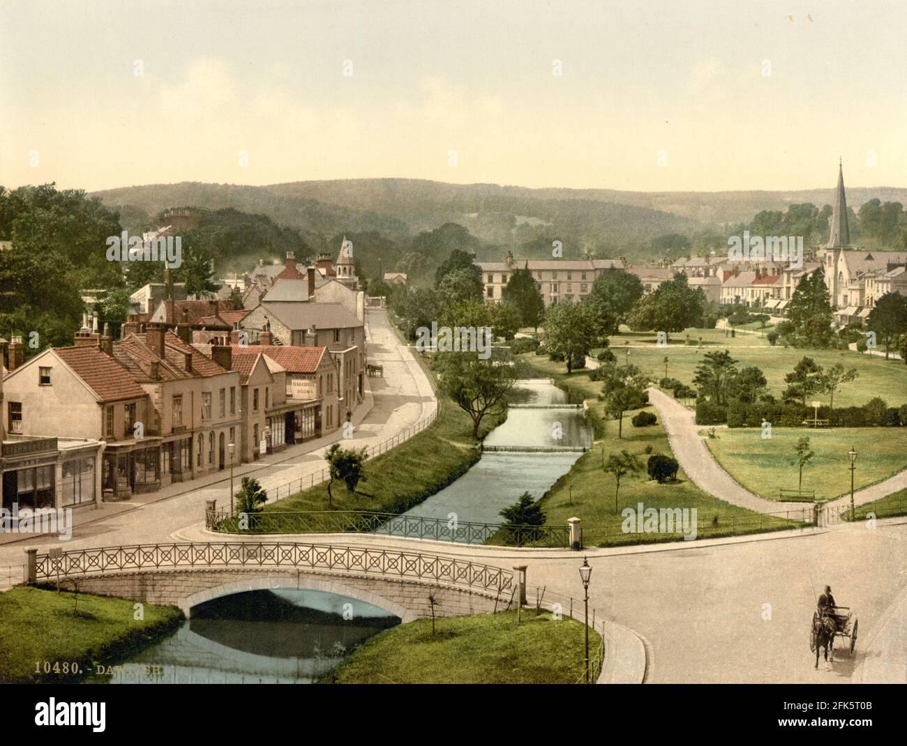 Dawlish dans le Devon vers 1890-1900 Banque D'Images