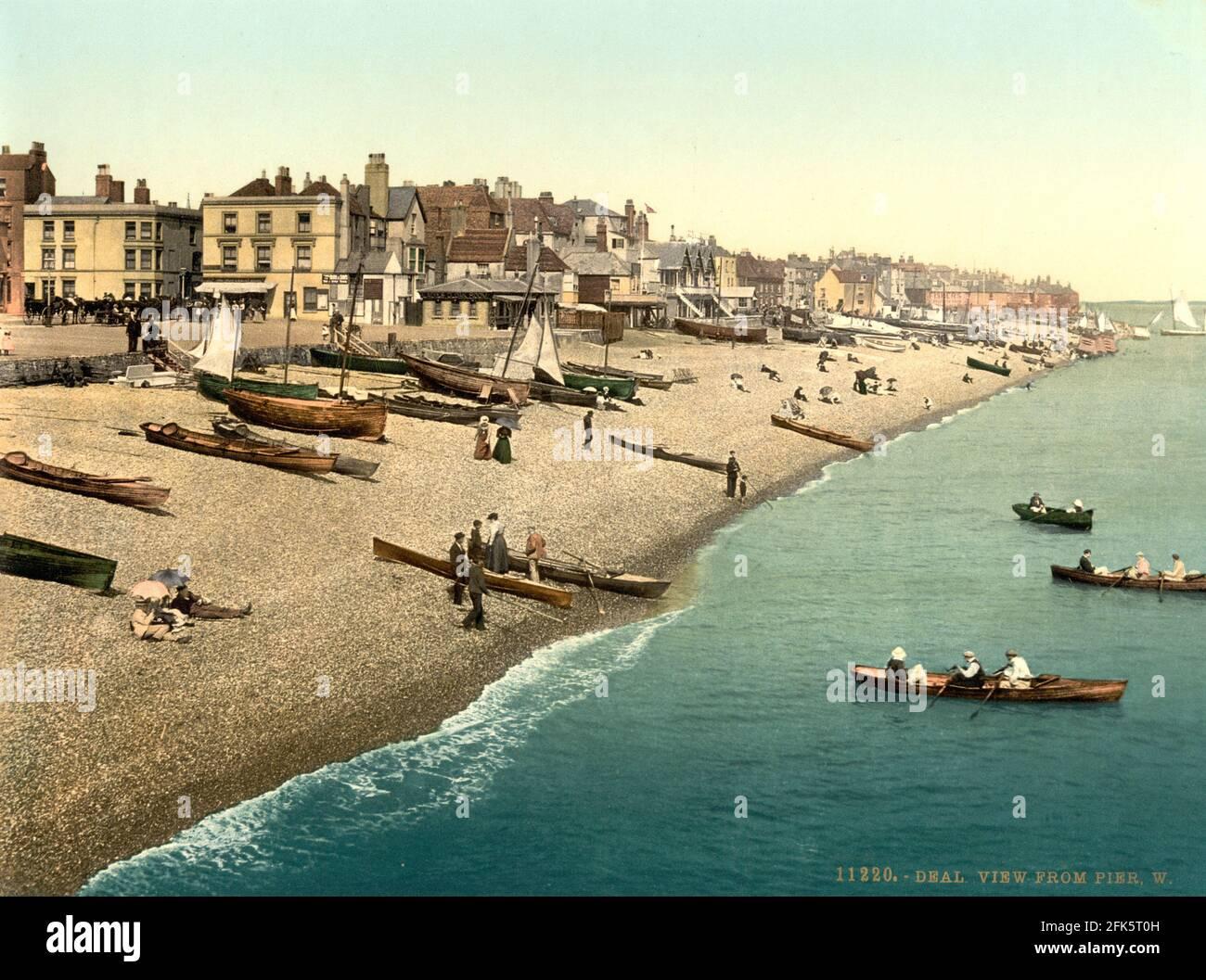 Deal Beach dans Kent vers 1890-1900 Banque D'Images
