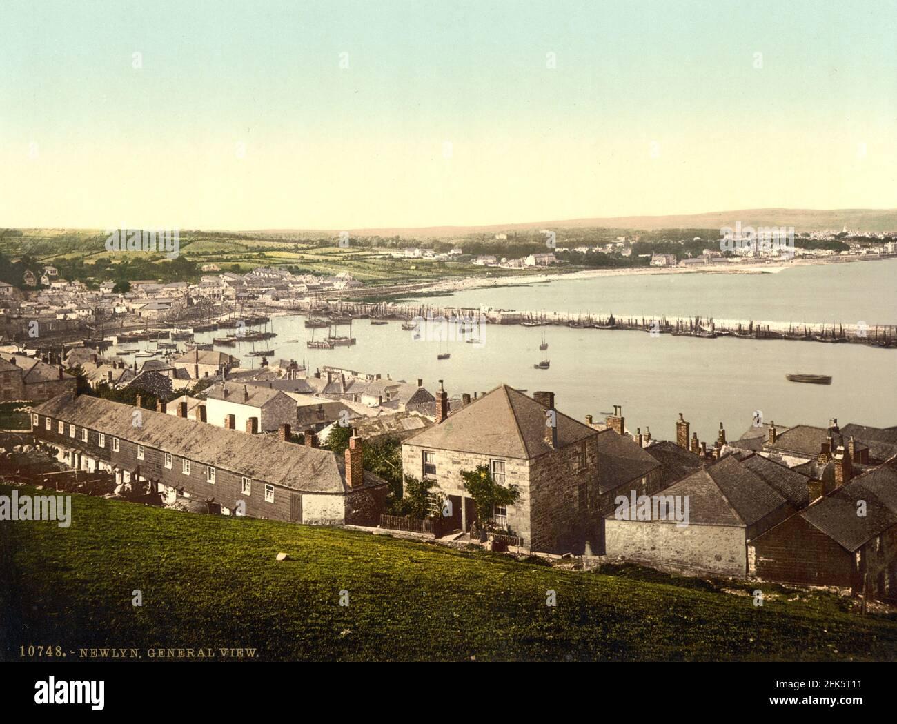 Newlyn dans Cornwall vers 1890-1900 Banque D'Images