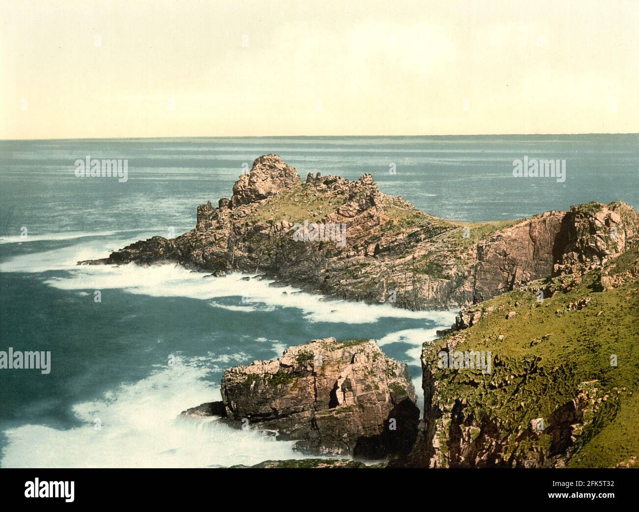 Gurnard's Head, St Ives, Cornwall vers 1890-1900 Banque D'Images