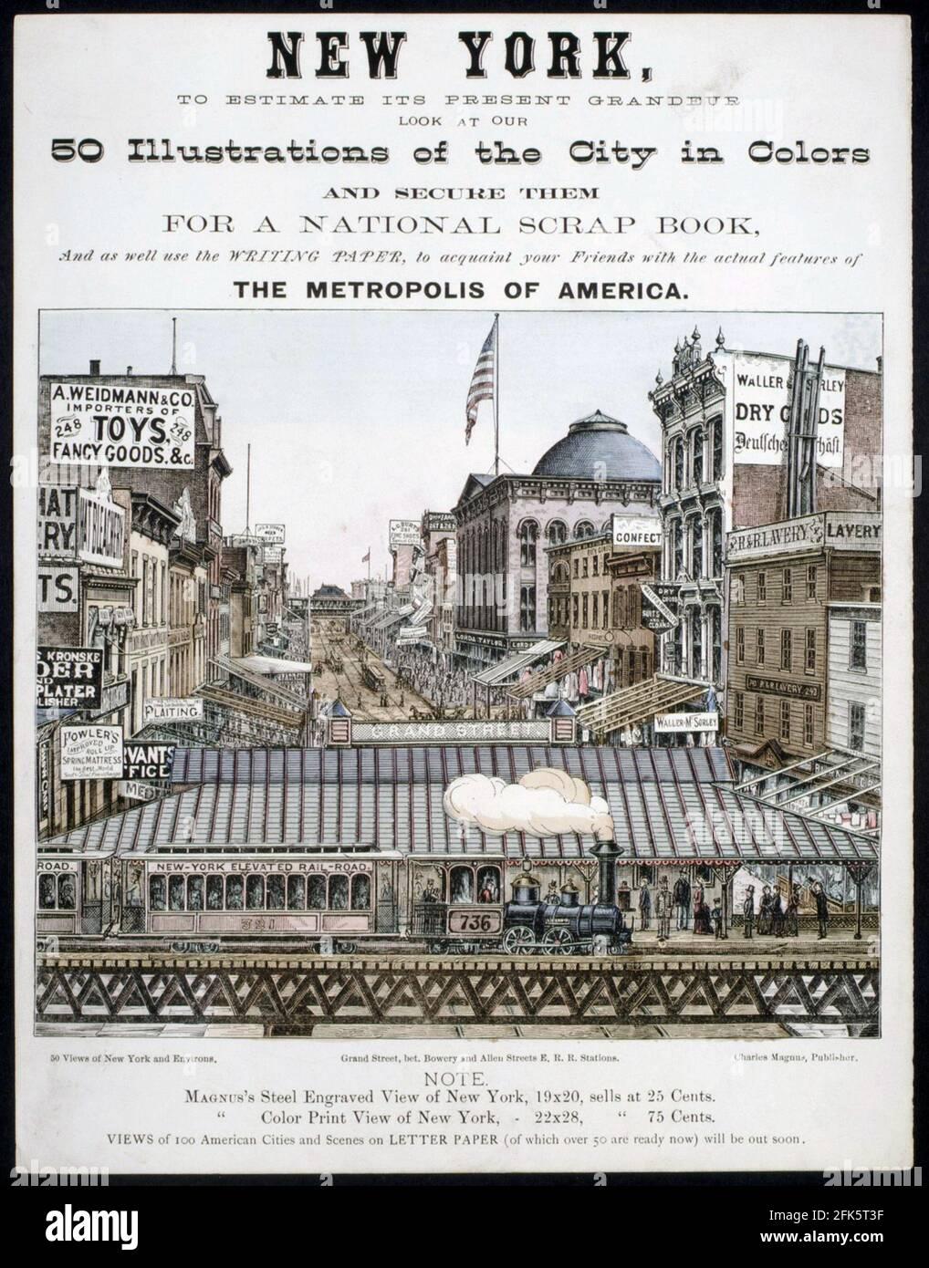 Une affiche vintage pour New York Banque D'Images