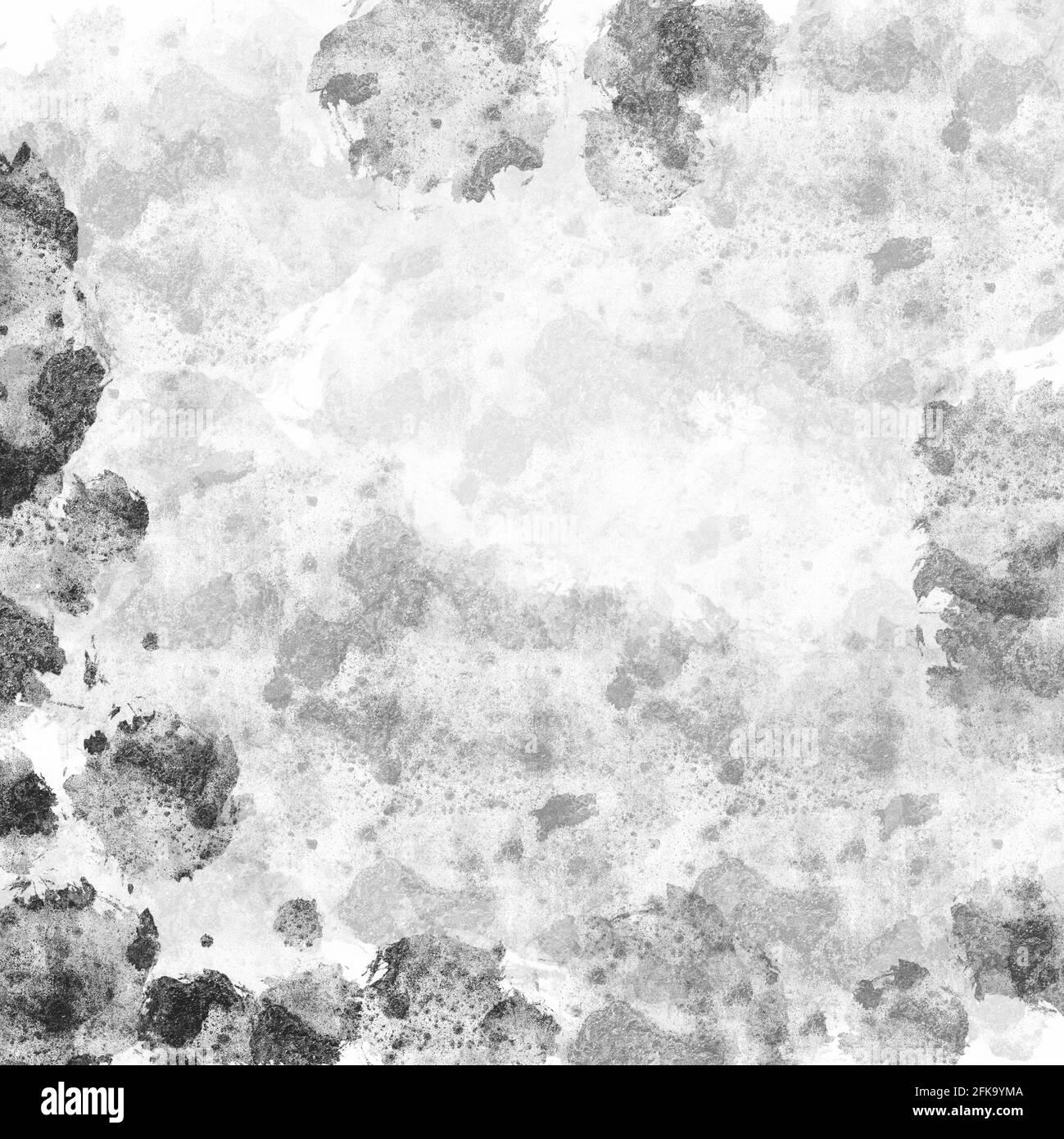 Texture du mur de ciment avec taches et éclaboussures. Fond en pierre de béton Banque D'Images