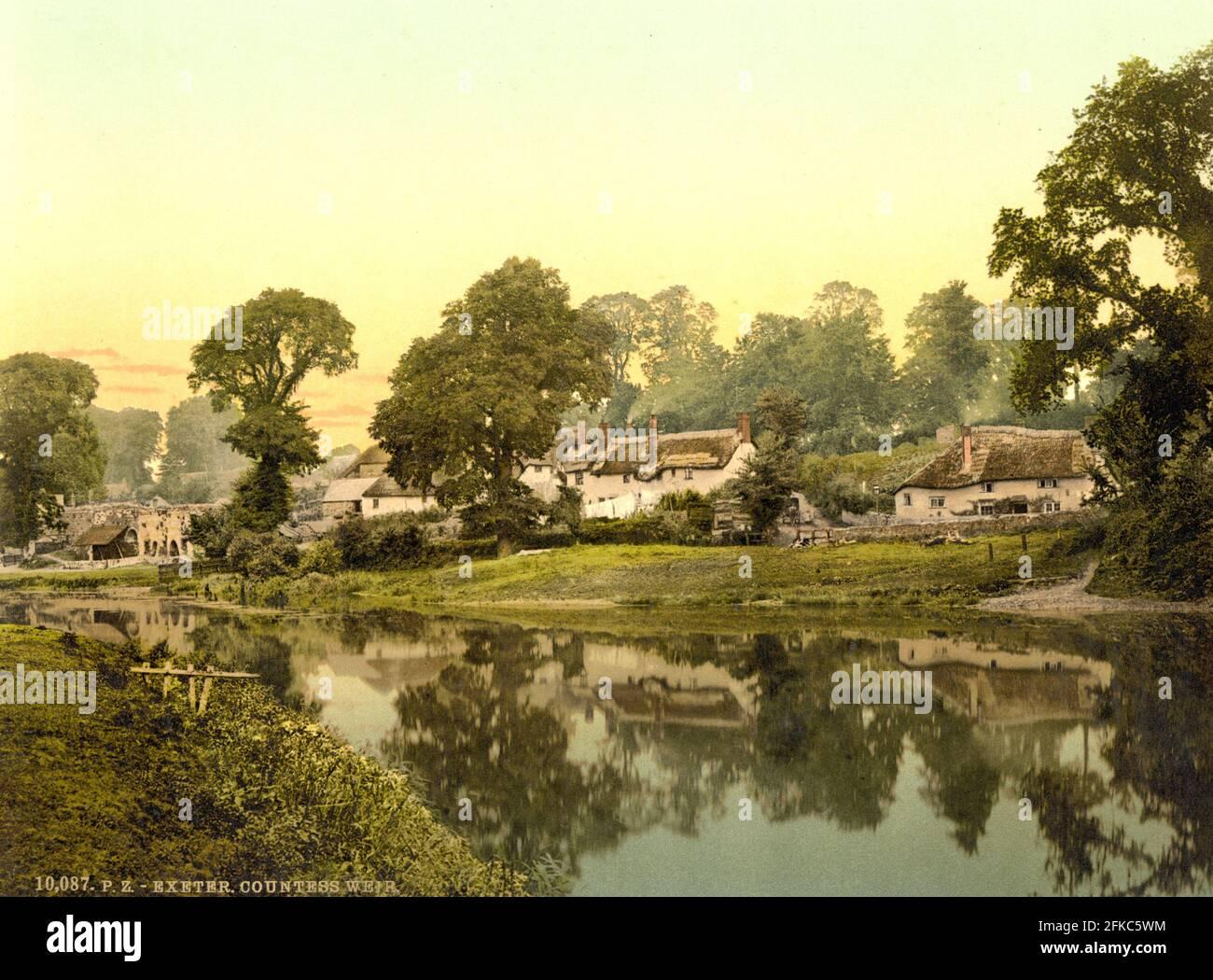 Comtesse Weir, Exeter dans le Devon vers 1890-1900 Banque D'Images