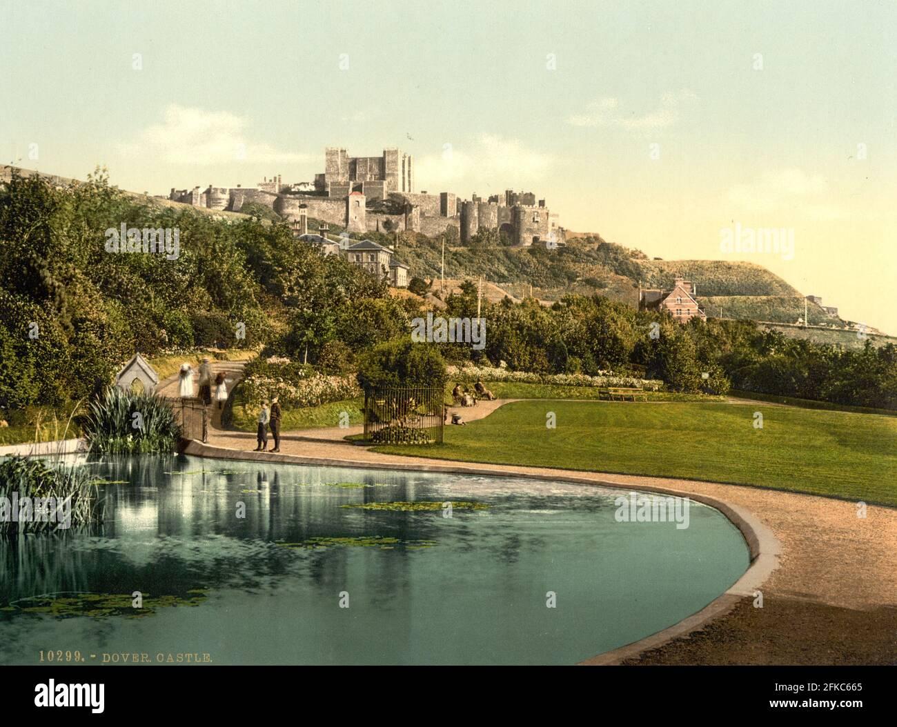Château de Douvres dans le Kent vers 1890-1900 Banque D'Images